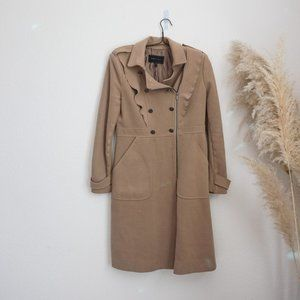 BCBG tan military inspired winter coat